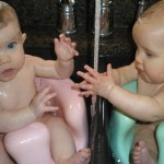Twins Discover Water
