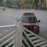 Flooding in Virginia Beach at aunt Honey's house