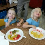 Thanksgiving dinner at the girl's daycare