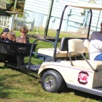 golf cart wagon ride!