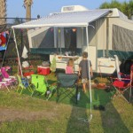 Camping with Holly at Apache camp ground in Myrtle Beach
