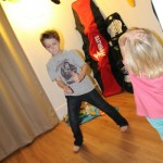 Dancing in the bonus room (aka kids room) at the lake