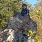 Logan hiking Crowders Mountain