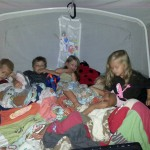 How many kids can you fit in a camper?