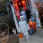 Trick-or-Treaking with friends