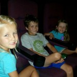 At the movies with the kids!